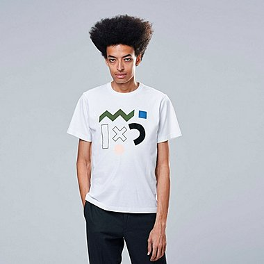 SUPER GEOMETRIC DUSEN DUSEN UT (SHORT-SLEEVE GRAPHIC T-SHIRT), WHITE, medium