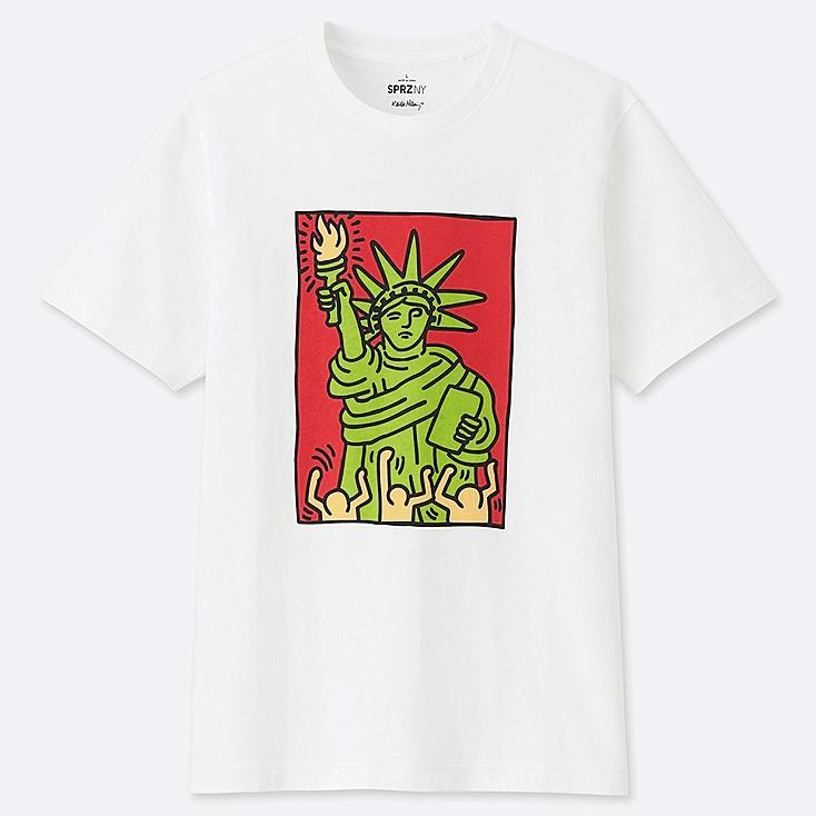 SPRZ NY SHORT-SLEEVE GRAPHIC T-SHIRT (KEITH HARING), WHITE, large