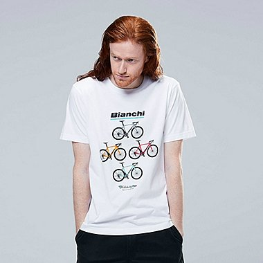 T-SHIRT GRAPHIQUE MANCHES COURTES BRANDS BICYCLE HOMME