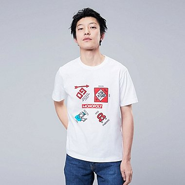 THE BRANDS Masterpiece SHORT-SLEEVE GRAPHIC T-SHIRT (MONOPOLY), WHITE, medium