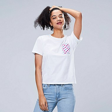 DAMEN BEDRUCKTES T-SHIRT THE BRANDS OKASHI