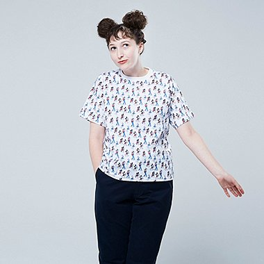 WOMEN MICKEY ART UT YU NAGABA (SHORT-SLEEVE GRAPHIC T-SHIRT), WHITE, medium