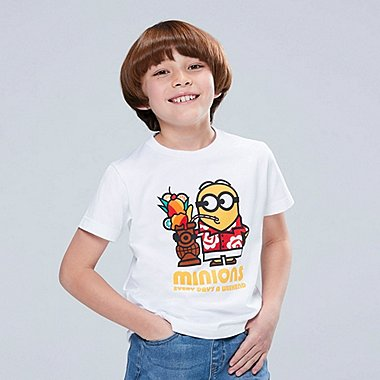 KIDS MINIONS SHORT-SLEEVE GRAPHIC T-SHIRT, WHITE, medium
