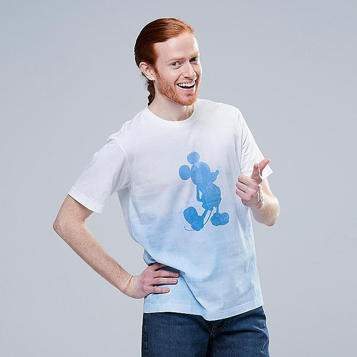 MEN MICKEY BLUE UT (SHORT-SLEEVE GRAPHIC T-SHIRT), WHITE, large