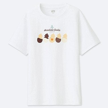 WOMEN THE BRANDS HAWAIIAN LOCO UT (SHORT-SLEEVE GRAPHIC T-SHIRT), WHITE, medium