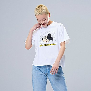 WOMEN MICKEY ART UT JEREMYVILLE (SHORT-SLEEVE GRAPHIC T-SHIRT), WHITE, medium