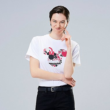 WOMEN MICKEY ART UT GENEVIÈVE GAUCKLER (SHORT-SLEEVE GRAPHIC T-SHIRT), WHITE, medium