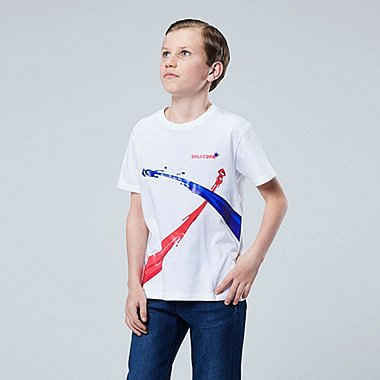 KIDS SPLATOON UT (SHORT-SLEEVE GRAPHIC T-SHIRT), WHITE, medium