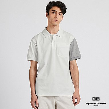 ee006a5fd MEN DRY PIQUE COLOR BLOCK POLO SHIRT (ENGINEERED GARMENTS)