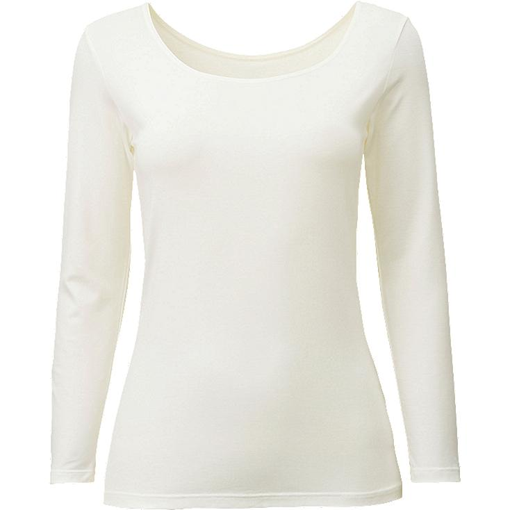 HEATTECH WOMEN Scoop Neck Long Sleeve T-Shirt