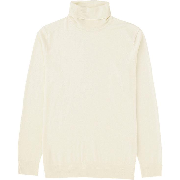 MEN Extra Fine Merino Polo Neck Sweater
