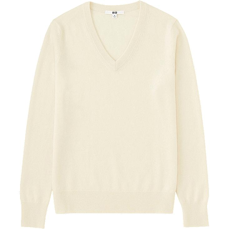 WOMEN Cashmere V Neck Sweater