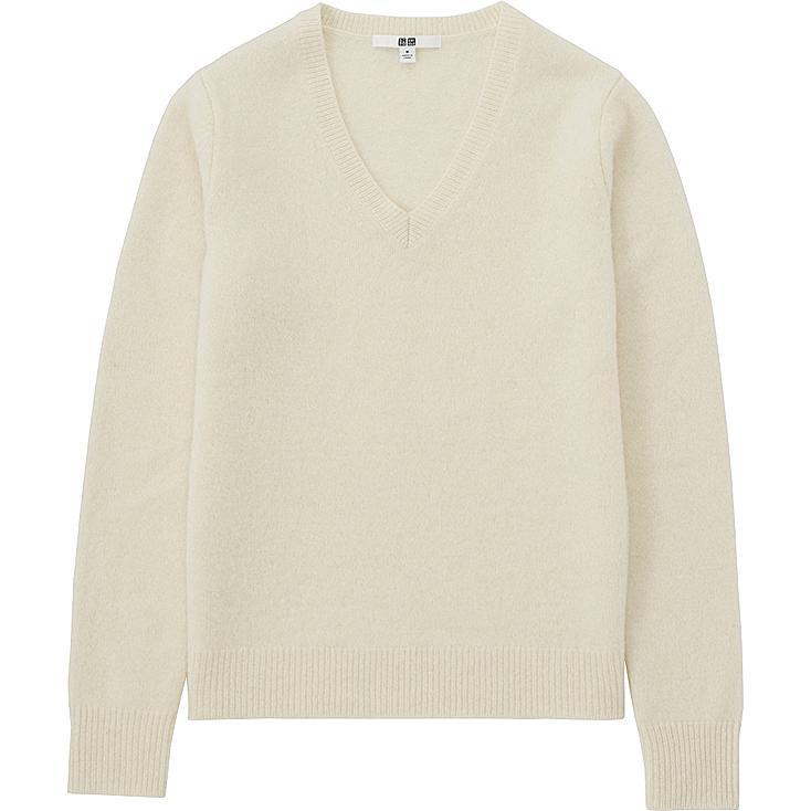 WOMEN Lambswool V Neck Sweater