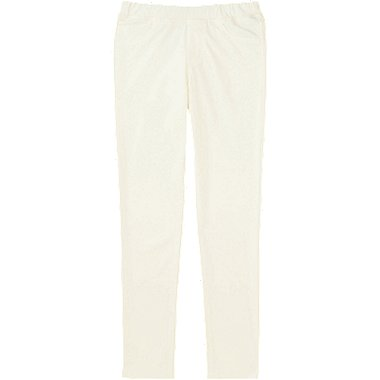 GIRLS EASY LEGGINGS PANTS, OFF WHITE, medium