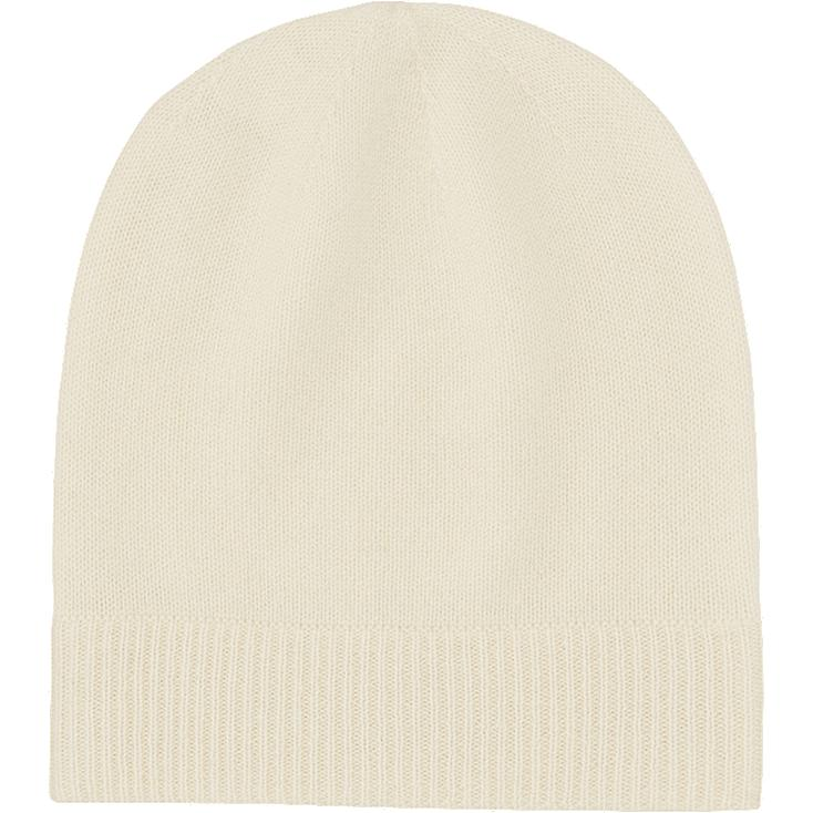 CASHMERE KNIT BEANIE, OFF WHITE, large