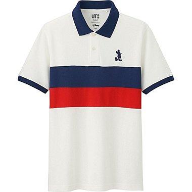 Mens Disney Project Pique Polo Shirt, OFF WHITE, medium