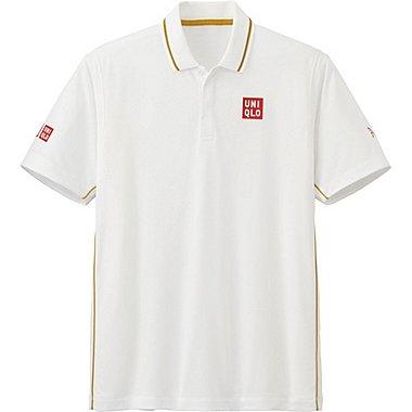 Mens Novak Djokovic DRY-EX Polo Shirt 16WB, OFF WHITE, medium