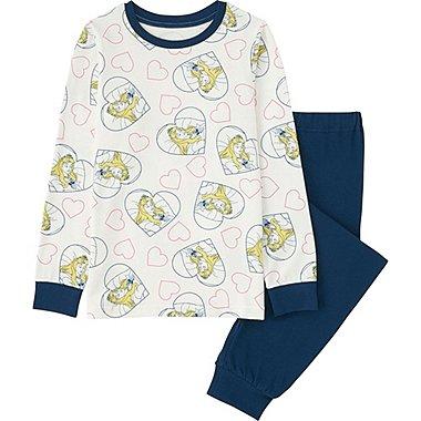 Girls Disney Project Long Sleeve Pajamas, OFF WHITE, medium