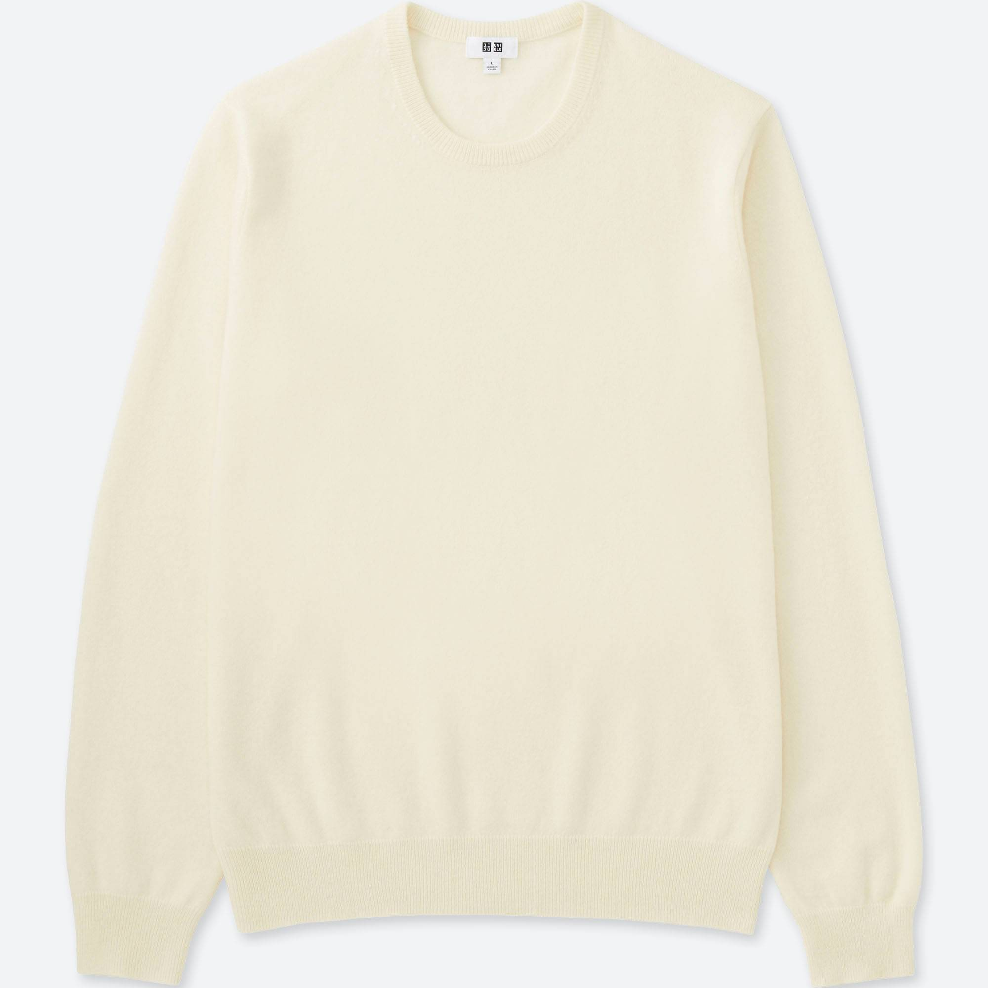 Men Cashmere Crew Neck Sweater | UNIQLO US