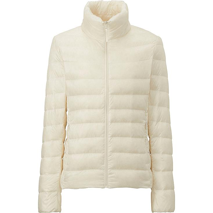 women ultra light down jacket off white large. Black Bedroom Furniture Sets. Home Design Ideas