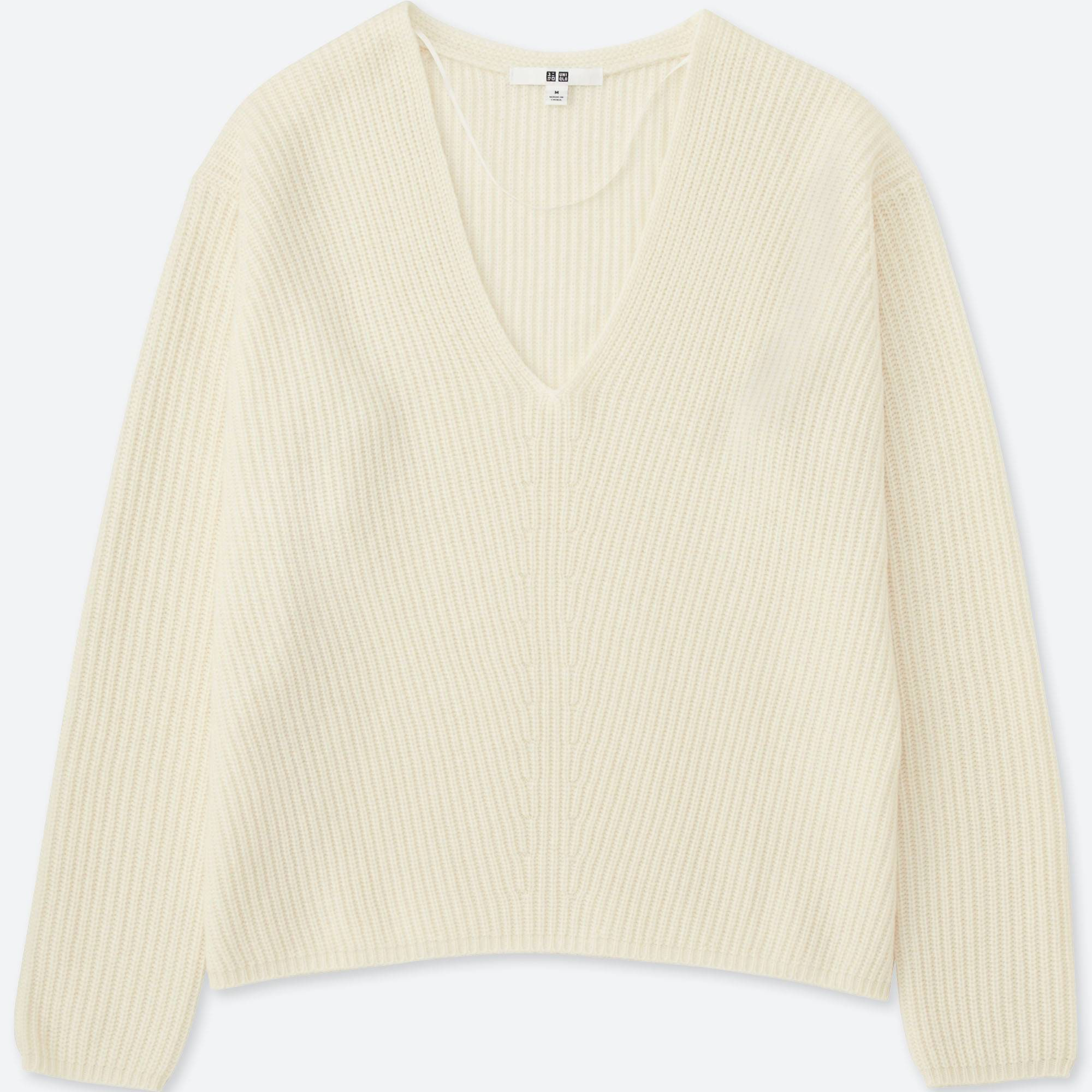 WOMEN CASHMERE BLEND V-NECK SWEATER | UNIQLO US