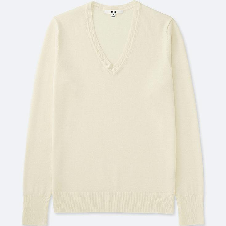 WOMEN Extra Fine Merino V Neck Sweater | UNIQLO UK