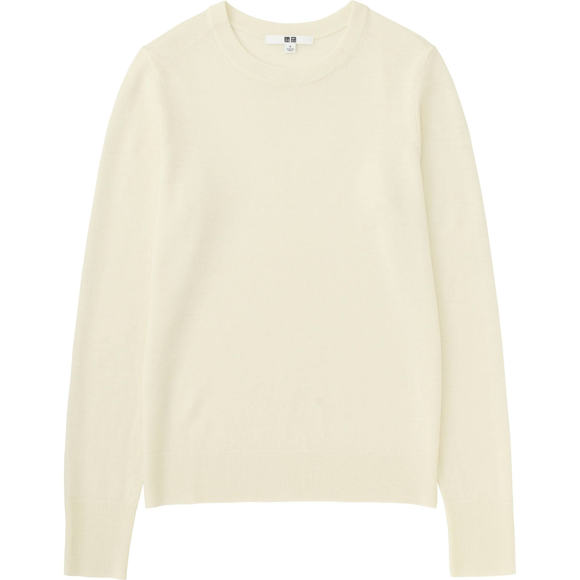 WOMEN EXTRA FINE MERINO CREWNECK SWEATER | UNIQLO US