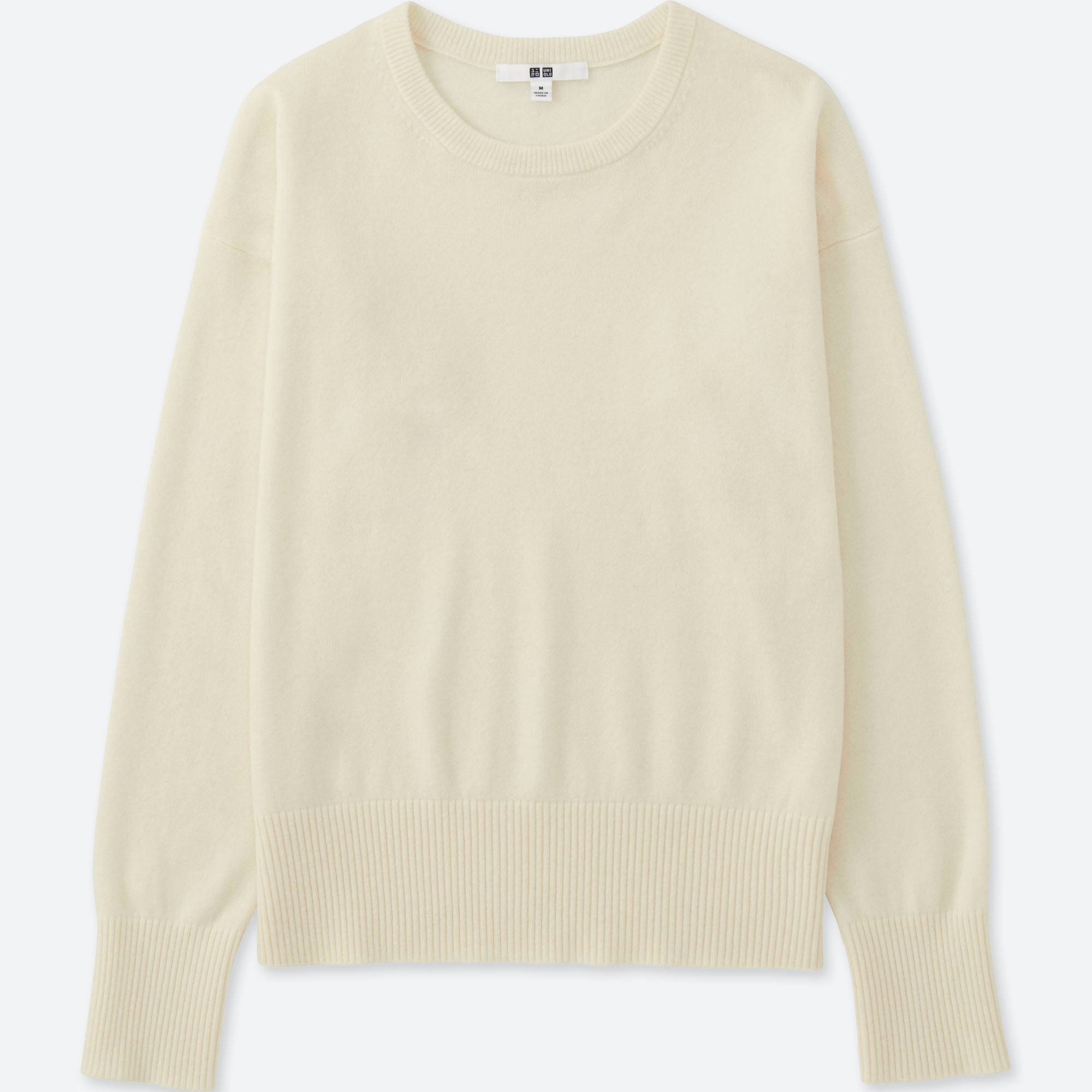Women Cashmere Crew Neck Sweater | UNIQLO US