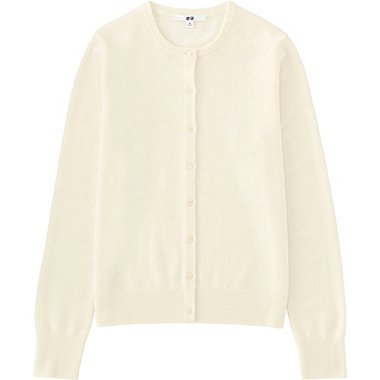 WOMEN Cashmere Crew Neck Cardigan