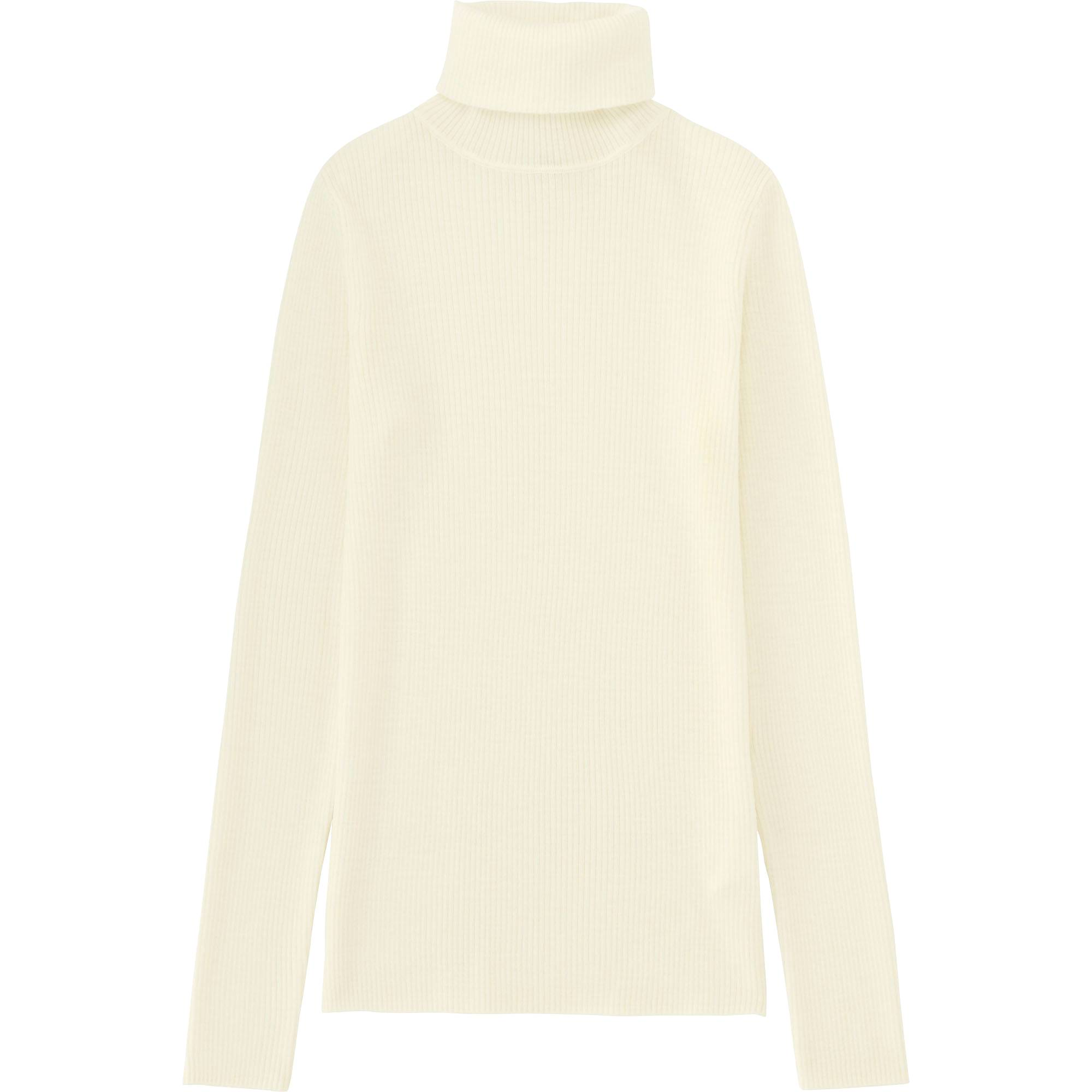 WOMEN EXTRA FINE MERINO RIBBED TURTLE NECK SWEATER | UNIQLO US