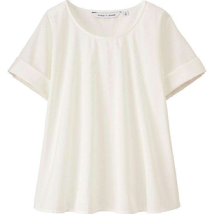 WOMEN LEMAIRE Seersucker Short Sleeve T Blouse
