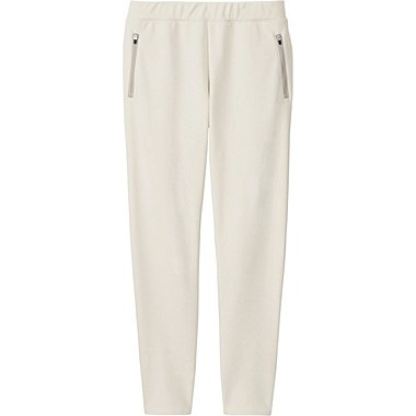 WOMEN BLOCKTECH FLEECE PANTS, OFF WHITE, medium