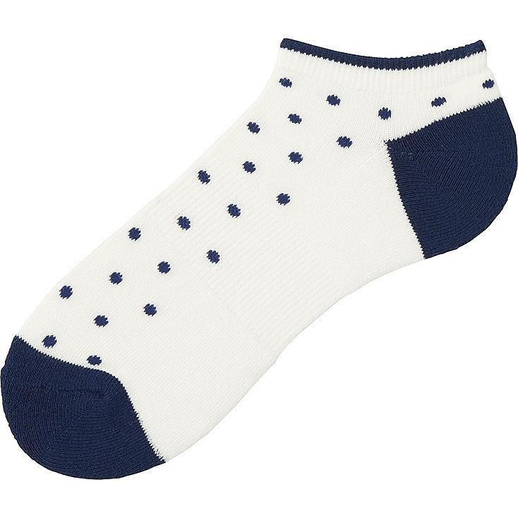 MEN PILE DOTS SHORT SOCKS, OFF WHITE, large