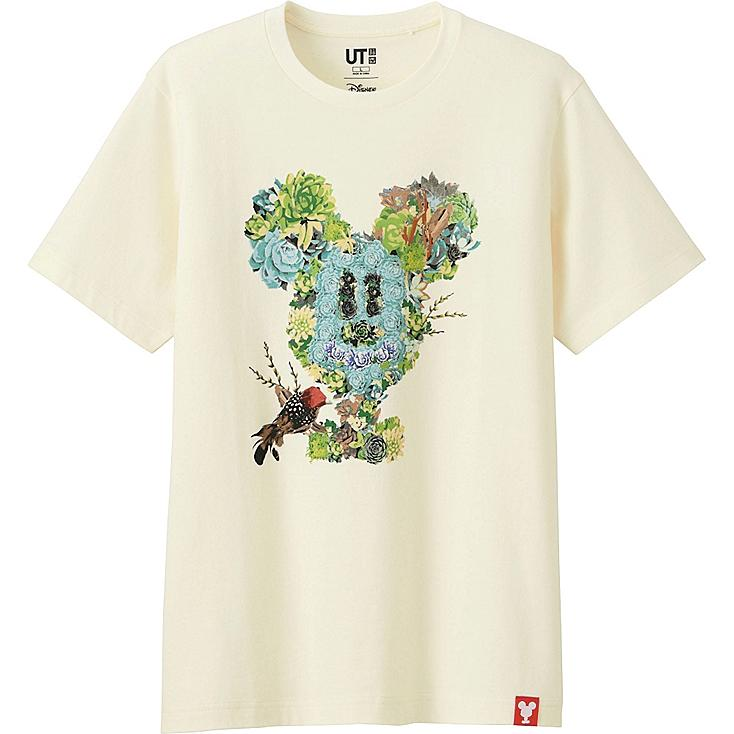 MEN MICKEY 100 SHORT SLEEVE GRAPHIC T-SHIRT, OFF WHITE, large