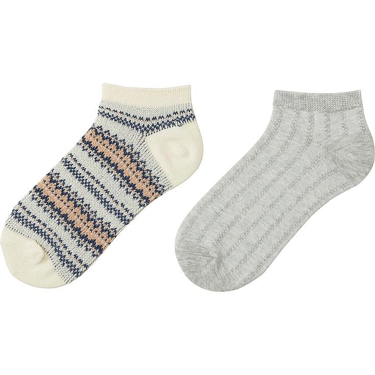 GIRLS Short Socks - 2 Pairs
