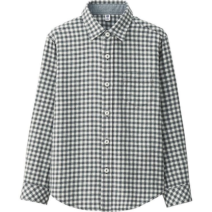 BOYS Flannel Check Long Sleeve Shirt