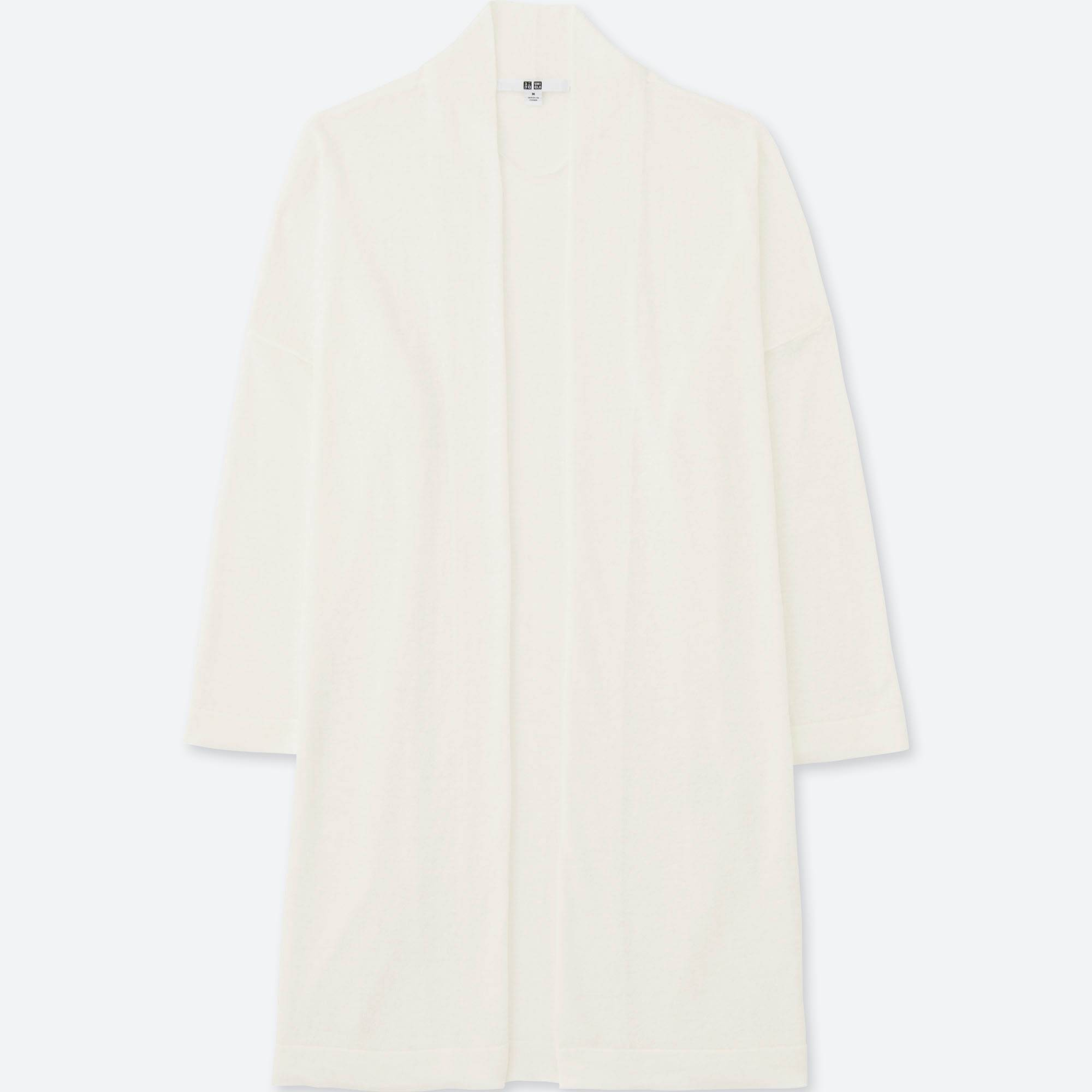 WOMEN LINEN BLENDED LONG-SLEEVE CARDIGAN | UNIQLO US