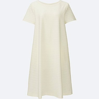 WOMEN Jacquard Short Sleeve Dress
