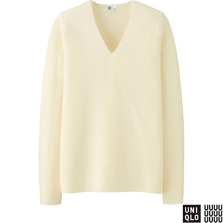 HERREN U Milano Rib Pullover mit V-Ausschnitt