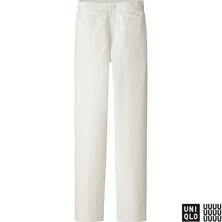 WOMEN U HIGH RISE REGULAR FIT JEANS, OFF WHITE, large
