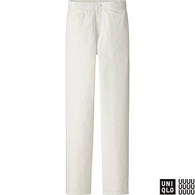 WOMEN U HIGH RISE REGULAR FIT JEANS, OFF WHITE, medium