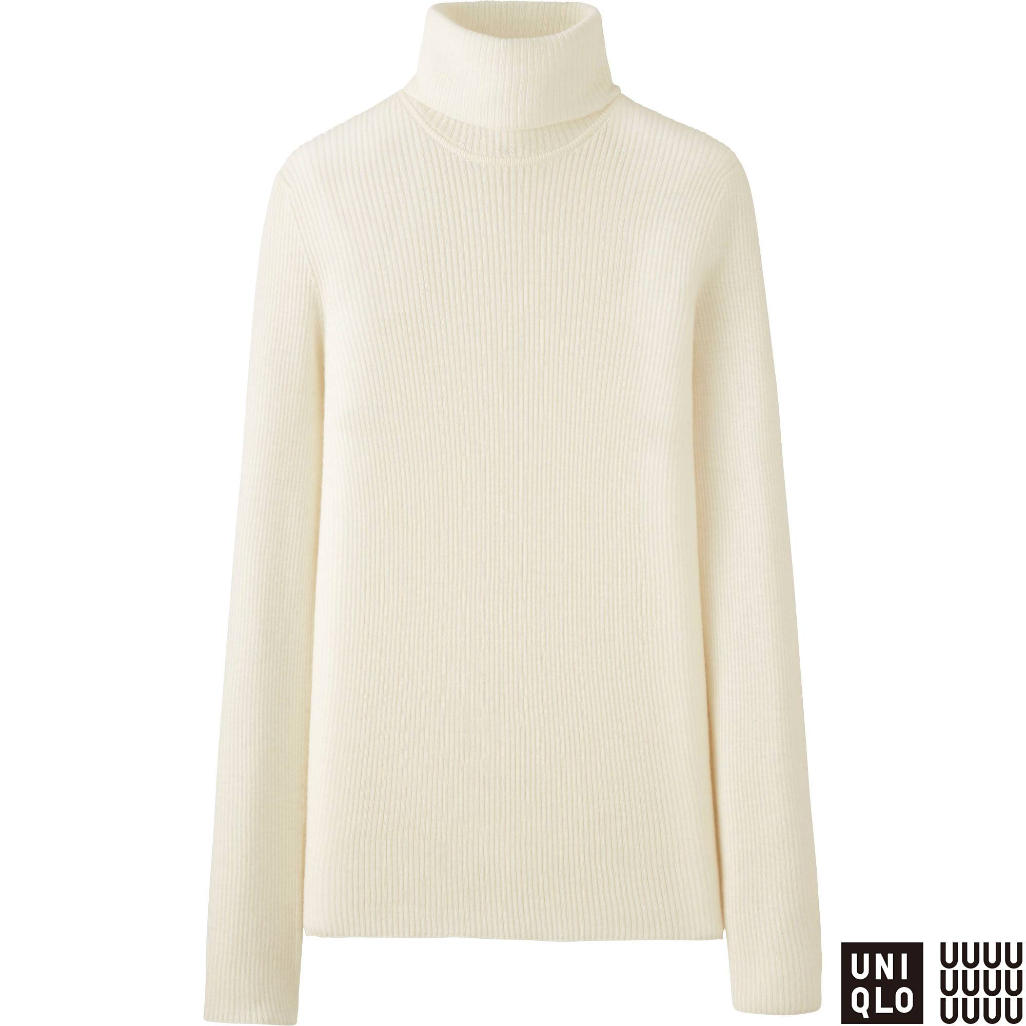 WOMEN U CASHMERE RIBBED TURTLENECK SWEATER | UNIQLO US