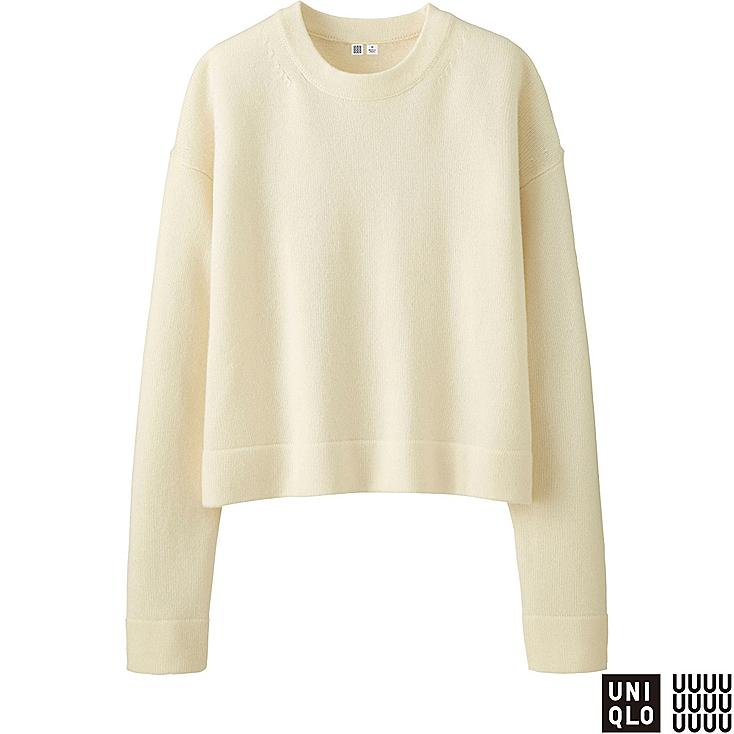WOMEN U Cashmere Blend Crew Neck Sweater