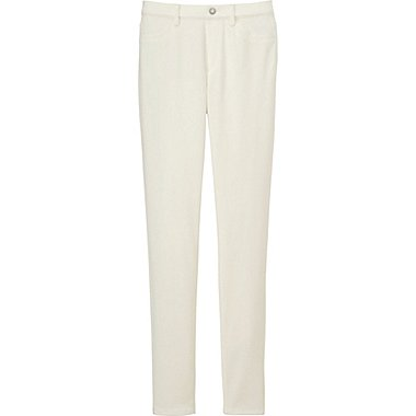 WOMEN LEGGINGS PANTS, OFF WHITE, medium