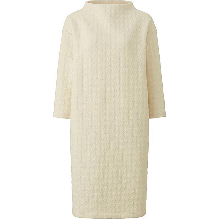 WOMEN Jacquard 3/4 Sleeve Dress