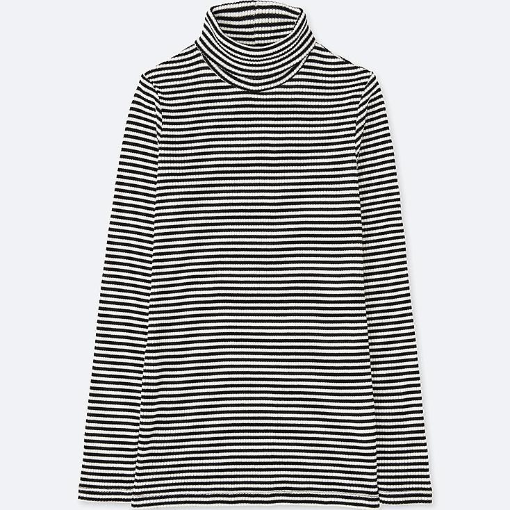 T-Shirt Col Roulé Manches Longues FEMME