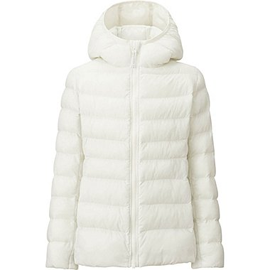 GIRLS LIGHT WARM PADDED PARKA, OFF WHITE, medium