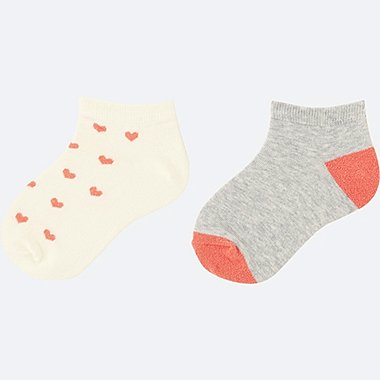 GIRLS SHORT SOCKS 2P, OFF WHITE, medium
