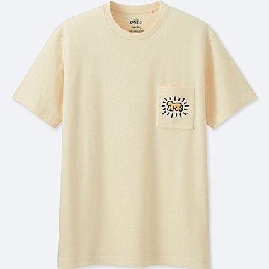 MEN SPRZ NY SHORT-SLEEVE GRAPHIC T-SHIRT (KEITH HARING), OFF WHITE, medium