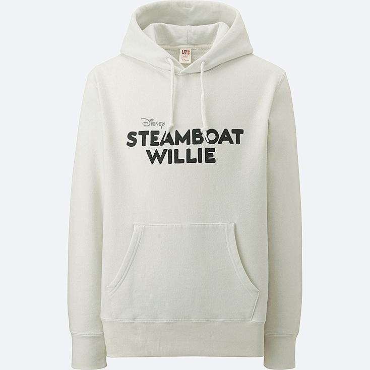 MEN DISNEY COLLECTION SWEAT PULLOVER HOODIE, OFF WHITE, large